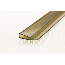 Профиль торцевой 2,0*6 мм. для поликарб. бронза